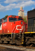 CN #2243 passing the standard life building