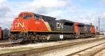 CN power at north Jackson Yard.