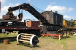 CP Rail (Canadian Pacific Limited - CP) 100 Ton Capacity, Steam Powered Wrecking Crain No. 414325 and Boom Car No. 402109
