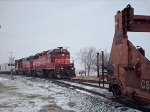 WCH-A passing stored double stack cars