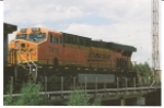BNSF 7419 crosses the Platte River Bridge at the BNSF Denver Yard