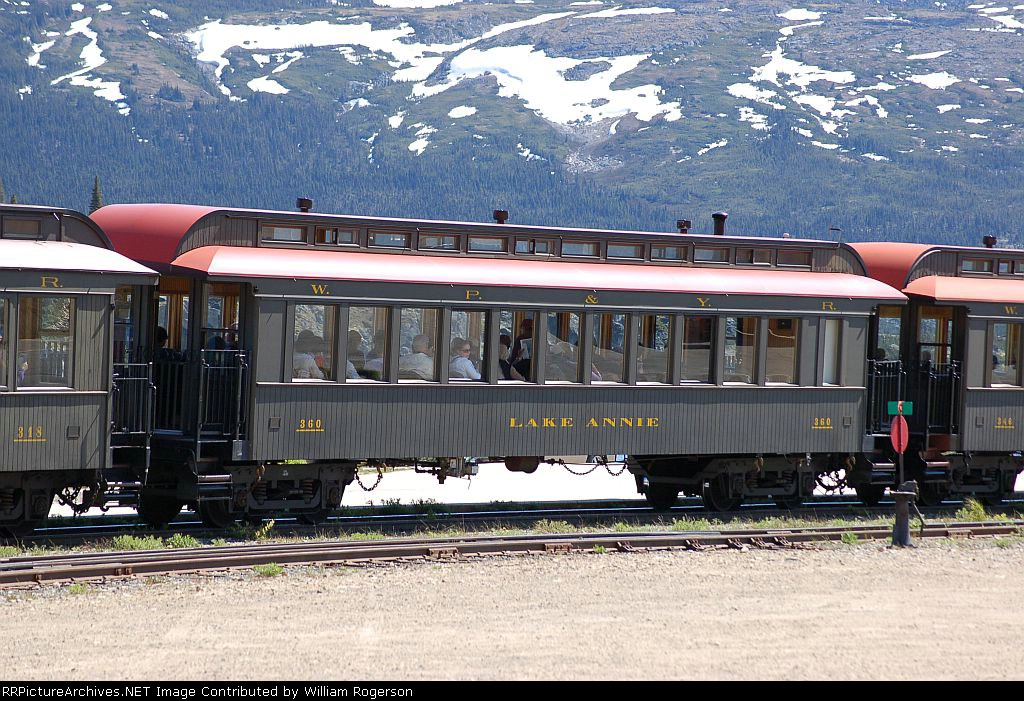 "White Pass & Yukon Route (WPYR) Passenger Coach No. 360, ""Lake Annie"""
