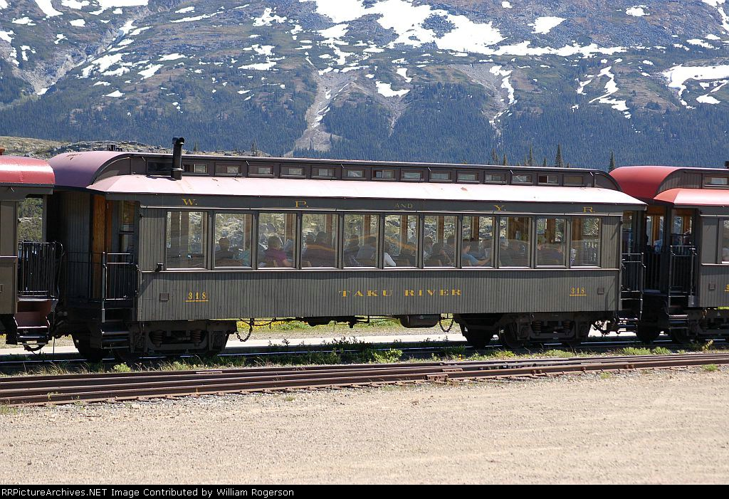 "White Pass & Yukon Route (WPYR) Passenger Coach No. 318, ""Taku River"""