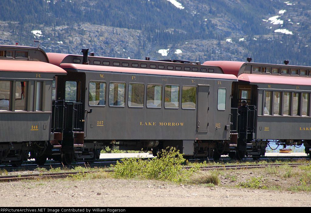 "White Pass & Yukon Route (WPYR) Passenger Car No. 207, ""Lake Morrow"""