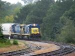 CSX 5850 passes the Georgia RR whistle post