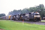 NS SB rack with back then just repainted ex-con in the lead