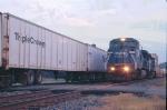 NB roadrailer meet with SB intermodal
