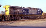 CSX 421 leading a SB coal train