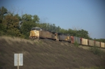 UP 7005 Leads Coal Empties WB