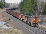 BNSF loaded tac train