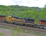 BNSF 8617 in Yellowbonnet paint