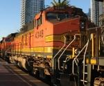 BNSF 4348 rolls through town