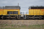 UP 2780 (SD40T-2) and UP 3699 (SD40-2) long hood detail.