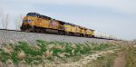 UP 5631 leads east bound all ARMN reefers