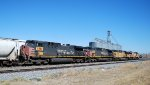 UP 6383 and UP 6259 ex Southern Pacific work a train west
