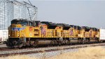All EMD SD70ACe on point of eastbound UP freight