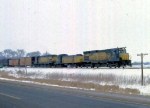 1129-26 Eastbound C&NW freight with Alco slug set
