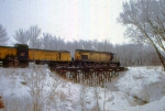 1129-28 Eastbound C&NW freight with Alco slug set