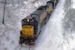 1129-30 Eastbound C&NW freight with Alco slug set