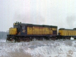 1129-35 Eastbound C&NW freight with Alco slug set
