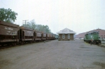 1183-37 Northbound BN taconite ore empties pass depot