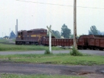 1188-25 DM&IR local freight on ex-NP Duluth Transfer line switches near Mikes Yard