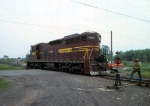 1188-34 DM&IR local freight on ex-NP Duluth Transfer line switches near Mikes Yard