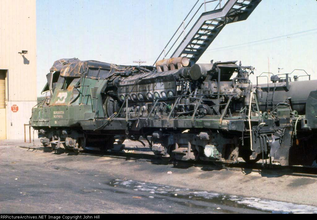 1146-29 Wrecked GP18 BN 1998 at Northtown Yard