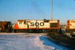 1125-19 Southbound SOO Railway Job arriving C&NW Railway Transfer Yard