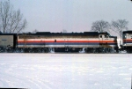 1125-32 Eastbound Amtrak Empire Builder on BN Willmar Line passes site of ex-GN Cedar Lake Receiving Yard
