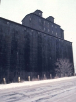 1126-19 Great Northern Elevator at BN Lyndale Yard undergoing demolition