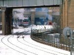 1126-28a Eastbound Amtrak North Coast Hiawatha departs Mpls GN Depot