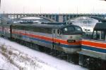 1126-30 Eastbound Amtrak North Coast Hiawatha departs Mpls GN Depot