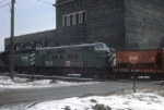 1144-30 BN eastbound ore train passing Mpls GN Depot