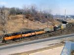 1147-09 Westbound MILW freight climbing Short Line Hill