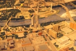 1149-27 BN diorama in IDS Center showing proposed redevelopment of Mpls GN Depot site & surrounding downtown area
