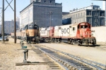 "1149-34 SOO Railway Job with ""Dolly Sisters"" 415-416 meets a set of MILW power up from Southtown Yard"