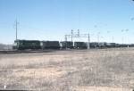 1152-31 Eastbound BN freight passes CTC Interstate