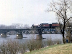 1155-04 Royal Hudson CP 2860 crossing Camden Bridge