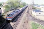 1163-08 Eastbound Amtrak Empire Builder on MILW Short Line passes under Selby Ave bridge