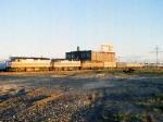 1166-13 Westbound Amtrak Empire Builder arrives Midway Station
