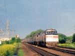 1179-18 Westbound Amtrak Empire Builder on MILW Short Line crosses Iglhart Ave/Fry St.