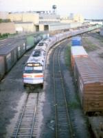 1183-07 Westbound Amtrak Empire Builder departs Midway Station