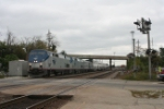 Amtrak's westbound Southwest Chief comes barrelling through