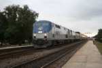 Amtrak's Southwest Chief races east through town approaching its destination at Union Station