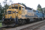 This GP38-2 was one of two light engines sent from the yard to drill a local customer