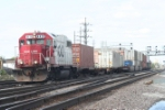 A SOO GP38 leads a small transfer run from Bensenville yard