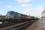 Road freight with an assortment of power has just departed Bensenville Yard