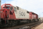 SOO GP 38 4415 passes by as the trailing unit on a transfer run