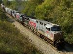 Northbound KCS Empty Grain Train